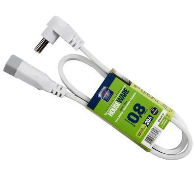 Extensão Daneva Cordão Prolongador HousewarePP3x2,50mm x 0,80m Branco 2P+T - 20A  DN1701