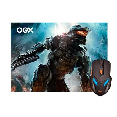 Kit Gamer OEX Game War - Mouse LED + Mousepad Pequeno