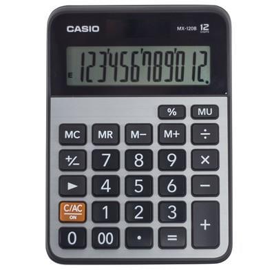 Calculadora Casio Eletrônica 12 Dígitos MX-120B Preta e Prata