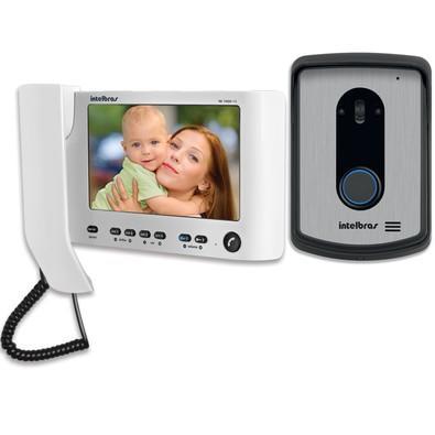 Vídeo Porteiro Intelbras LCD Branco + Handset 7  - IV7010 HS - 4520023