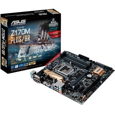 Placa-Mãe Asus Z170M-Plus/BR, Intel LGA 1151, mATX, DDR4