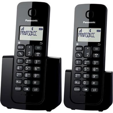 Telefone Panasonic Sem Fio com Base+Ramal com Id / Kx-Tgb112lbb Preto
