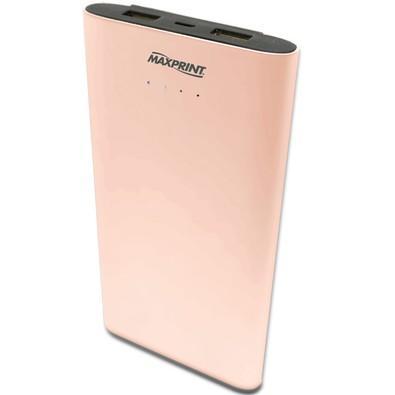 Carregador Portátil Maxprint 2 Portas USB 7000mAh - Rosé - 6012178