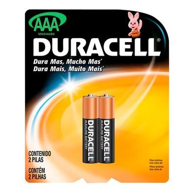 Pilha Duracell AAA pack c/ 2 unidades - MN2400