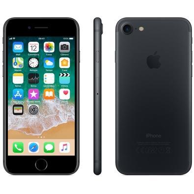 iPhone 7 Preto Matte, 128GB - MN922