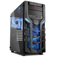 Gabinete Sharkoon Blue ATX com Vidro Lateral Temperado - DG7000-G