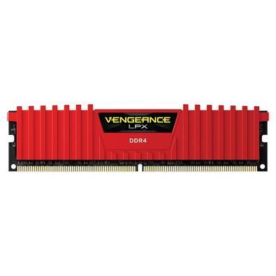 Memória Corsair Vengeance LPX 4GB 2400Mhz DDR4 CL14 Red - CMK4GX4M1A2400C14R
