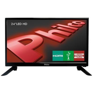 TV Philco 24´ LED HD com Conversor Digital Integrado, Som Surround, Entrada HDMI e USB - PH24N91D
