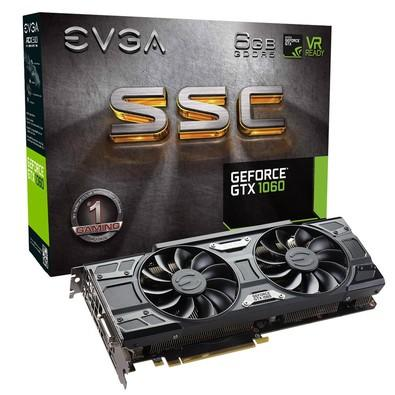 Placa de Vídeo VGA EVGA NVIDIA GeForce GTX 1060 6GB SSC ACX 3.0 GDDR5 - 06G-P4-6267-KR