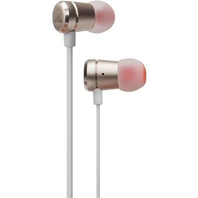 Fone de Ouvido Intra Auricular JBL T290 Branco e Dourado - JBLT290CGD