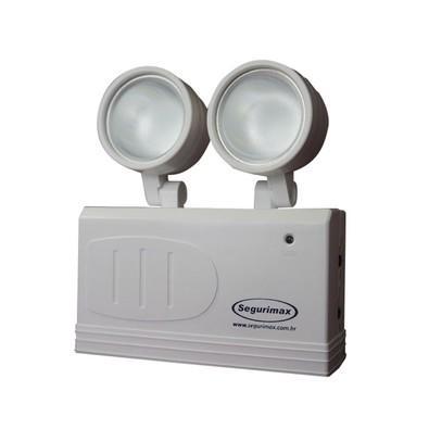 Iluminação de Emergência Segurimax LED 200 lumens 2 faróis 24530 Branca