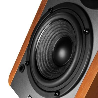 Caixa de som Edifier 2.0 42W RMS Bluetooth, Madeira- R1280DB