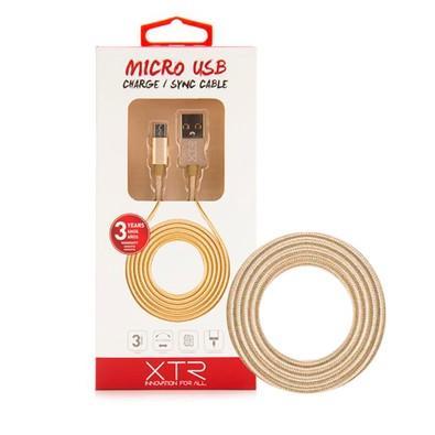 Cabo USB x Micro USB Xtrax 1.5 metros - Dourado