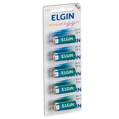 Bateria Alcalina Elgin Energy A23 12V Pack com 5 unidades - 82195