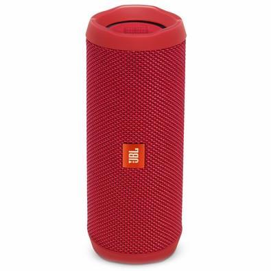 Caixa de Som JBL Flip 4, Bluetooth, A Prova D´Água, 2x8W, Vermelha