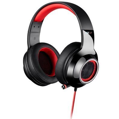 Headphone Gamer 7.1 EDIFIER G4 Over-Ear Preto e Vermelho