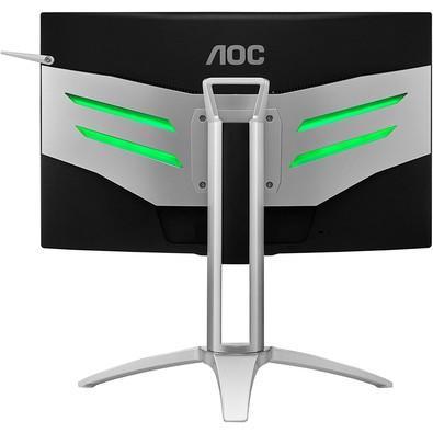 Monitor Gamer AOC Agon LED 27´ Widescreen Curvo, Full HD, HDMI/VGA/Display Port, FreeSync, Som Integrado, 144Hz, Altura Ajustável - AG272FCX