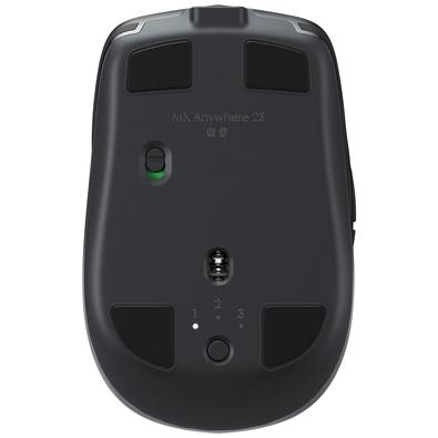 Mouse Logitech MX Anywhere 2S Sem Fio Recarregável Tecnologia Flow Unifying Cinza 4000DPI