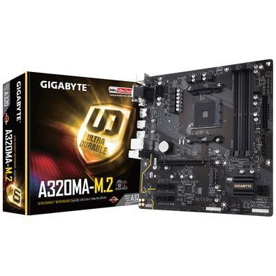 Placa-Mãe Gigabyte GA-A320MA-M.2, AMD AM4, mATX, DDR4