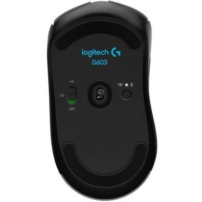 Mouse Sem Fio Gamer Logitech G603 Hero Lightspeed, Bluetooth, 6 Botões, 12000 DPI