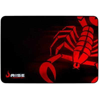 Mousepad Rise Gaming Scorpion Costurado Grande Fibertek Red - RG-MP-05-SR