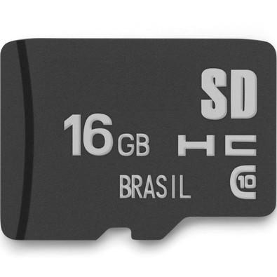 Cartão de Memória Multilaser Classe 10 16GB - MC143