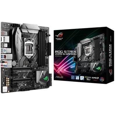 Placa-Mãe ASUS p/ Intel LGA 1151, mATX, ROG STRIX Z370-G GAMING, DDR4