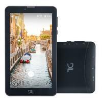 Tablet DL 7´ 3G Faz e Recebe Ligações, 2 SIM Card´s, Quad Core 1.3Ghz, Android 7.0, 8GB, 1GB de memória RAM, Bluetooth, WiFi Mob Tab - TX384PRE Preto