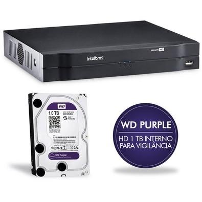 DVR Intelbras Multi HD 4 CH c/ HD 1TB MHDX 1004 4580278