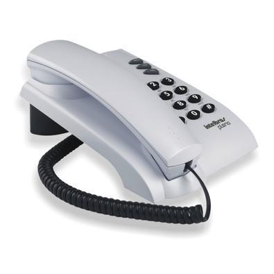 Telefone Intelbras Pleno com Fio s/ Chave de Bloqueio Cinza Ártico - 4080055