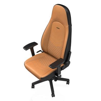 Cadeira Gamer Noblechairs ICON Leather, Cognac Black - NBL-ICN-RL-CBK