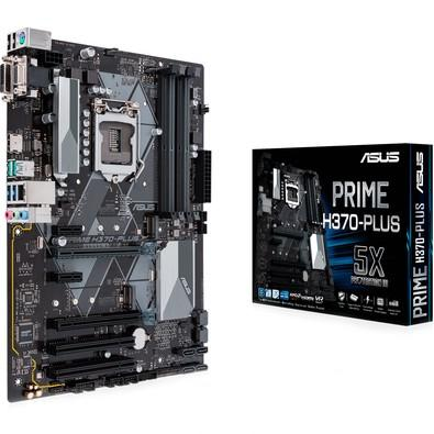 Placa-Mãe Asus Prime H370-Plus, Intel LGA 1151, ATX, DDR4