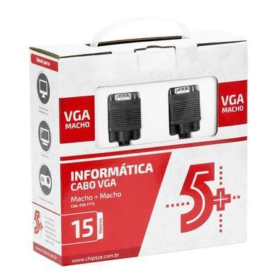 Cabo 5+ VGA + VGA 15m com Filtro Preto 018-7715