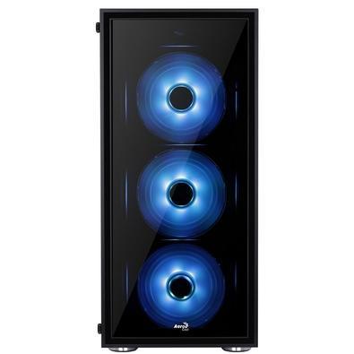 Gabinete Aerocool Mid Tower ATX Quartz RGB Preto