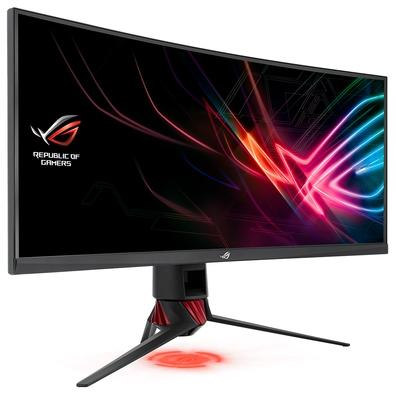 Monitor Gamer Asus ROG Strix LED 35´ Curvo, WQHD, HDMI/Display Port, FreeSync, 1ms, Altura Ajustável - XG35VQ