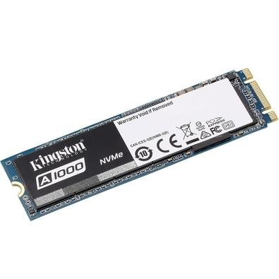 SSD Kingston A1000 M.2 2280 240GB PCIe NVMe Ger 3.0 x 2 Leituras: 1.500MB/s e Gravações: 800MB/s - SA1000M8/240G