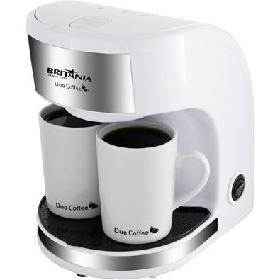 Cafeteira Elétrica Britânia Duo Coffee 2 Xícaras 450W Branca 220V