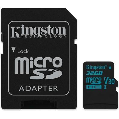 Cartão de Memória Kingston Canvas Go! MicroSD 32GB Classe 10 com Adaptador - SDCG2/32GB