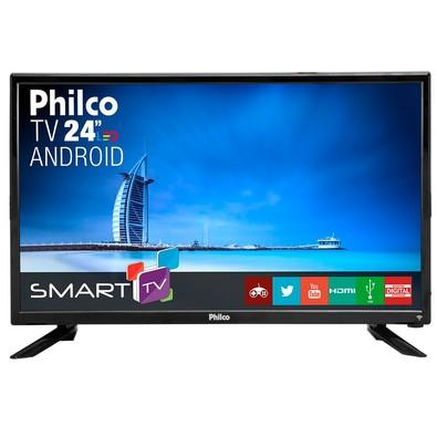 Smart TV LED 24´ Full HD Philco, Android TV, HDMI, 2 USB, Wi-Fi - PTV24N91SA