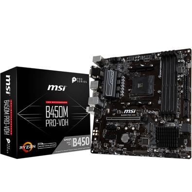 Placa-Mãe MSI p/ AMD AM4 B450M PRO-VDH DDR4