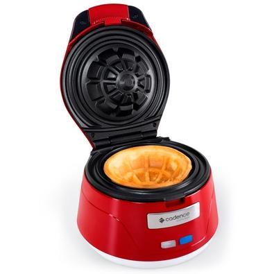 Máquina de Waffle Bowl Cestinha Cadence, Vermelho, WAF101 - 110V