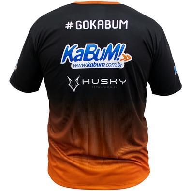 Camiseta Uniforme Oficial KaBuM! e-Sports 2018, Orange Ninja, Dry-Fit, Tamanho XG
