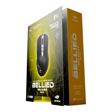 Mouse Gamer C3 Tech RGB, 7000 DPI - MG-700BK