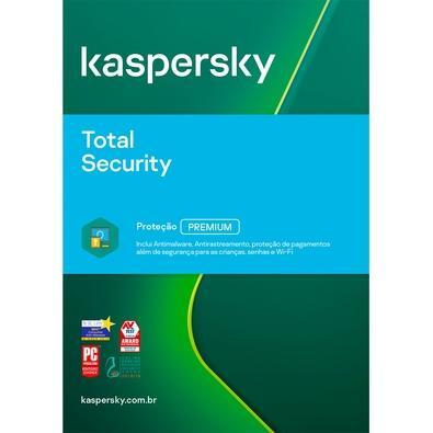 Kaspersky Antivírus Total Security 2020 Multidispositivos 3 PCs - Digital para Download