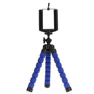 Tripé Fotográfico para Câmera e Smartphone MD9 Flexível, Azul - FN182