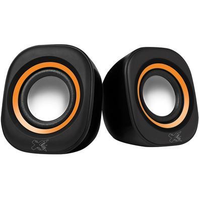 Caixa de Som Maxprint Sound Bar, USB, 5V, Preto e Laranja - 6013447