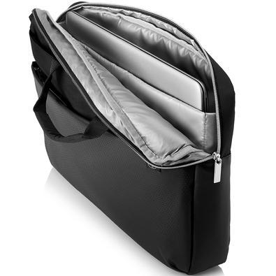 Maleta HP Fusion Accent para Notebook até 15.6´, Preta e Prata - 4QF95AA