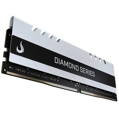 Memória Rise Mode Diamond, 16GB, 3000MHz, DDR4, CL15, Branco - RM-D4-16G-3000DW