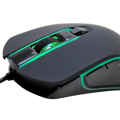 Kit Gamer Husky Teclado Mecânico Outemu Blue e Mouse 2400 DPI com LED, Storm - MK-HST-KRGB