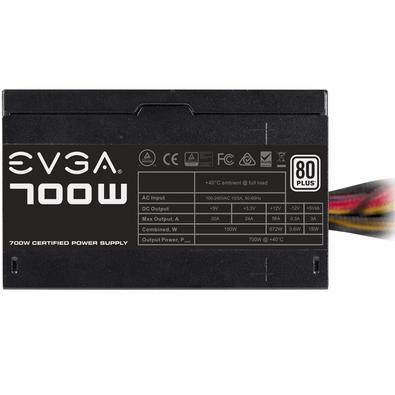 Fonte EVGA 700W, 80 Plus White - 100-W1-0700-K